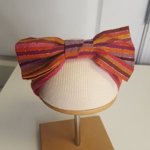 Gymboree Fall Gold Metallic Stripe Baby Bow